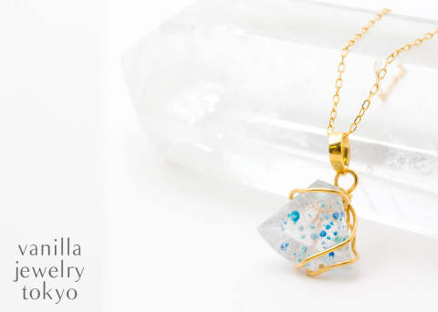 La verite , Paraiba Quartz , K18 necklace